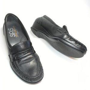 SAS Comfort Shoes Black Loafers Moccasins Sz 6.5 N